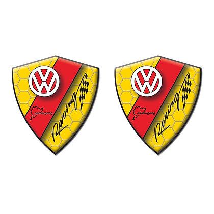 Volkswagen Yellow Diamond x2pcs s.n:W0731