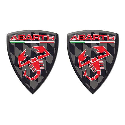 Abarth Black Shield x2pcs s.n: 0155