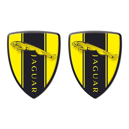 Jaguar Yellow Shield x2pcs s.n: J0092