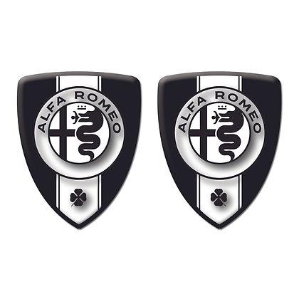 Alfa Romeo Black Shield x2pcs s.n: A0011