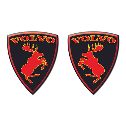 Volvo Black Red moose x2pcs s.n: V0631