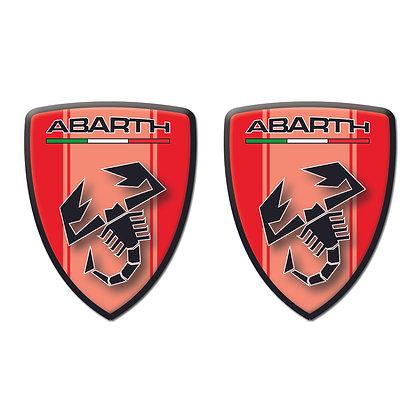 Abarth Red Shield x2pcs s.n: 00121