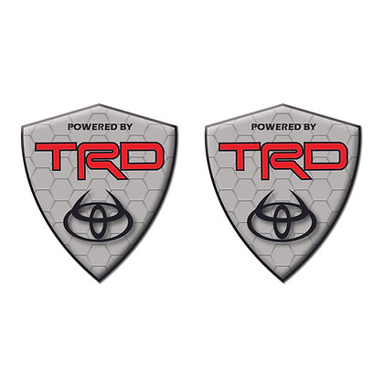 Toyota TRD Gray Diamond x2pcs s.n:T7051