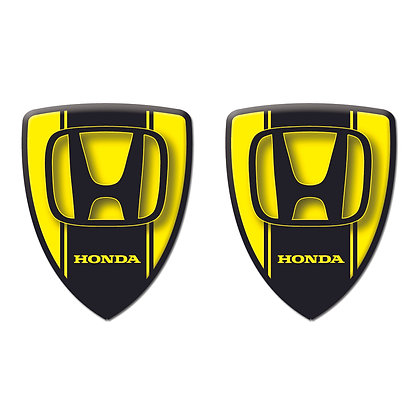 Honda Yellow Shield x2pcs s.n: H0773