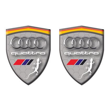Audi Quattro Gray Shield x2pcs s.n: AA231