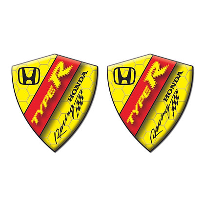Honda Yellow Diamond x2pcs s.n: H0774
