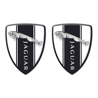 Jaguar White Shield x2pcs s.n: J0091