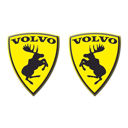 Volvo yellow moose x2pcs s.n: V0621