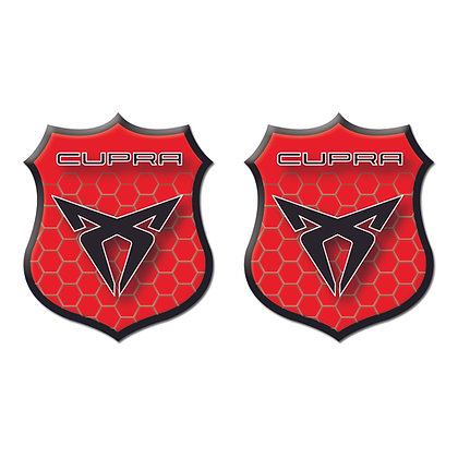 Seat Cupra Red Shield x2pcs s.n:S0467