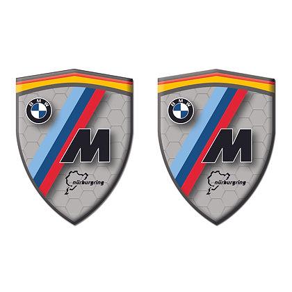 B.M.W Gray Shield x2pcs s.n: B0343