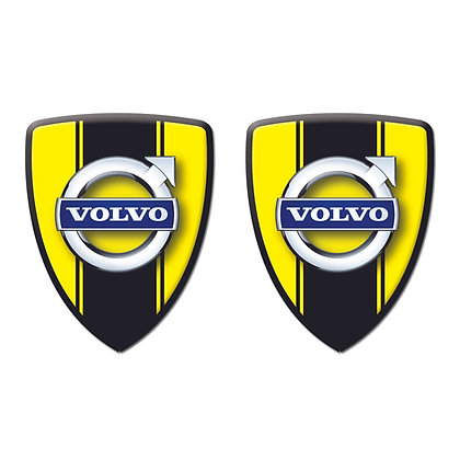 Volvo Yellow Shield x2pcs s.n: V0603
