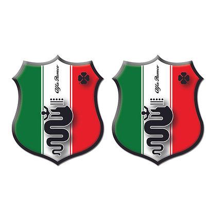 Alfa Romeo Italy Flag x2pcs s.n: A0001