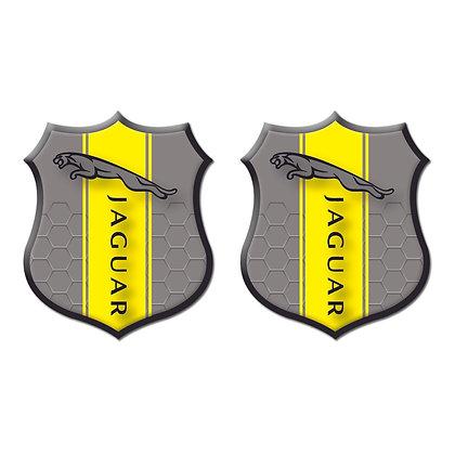 Jaguar Gray Shield x2pcs s.n: J0103