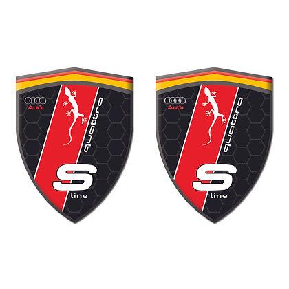 Audi Quattro Black Shield x2pcs s.n: AA232