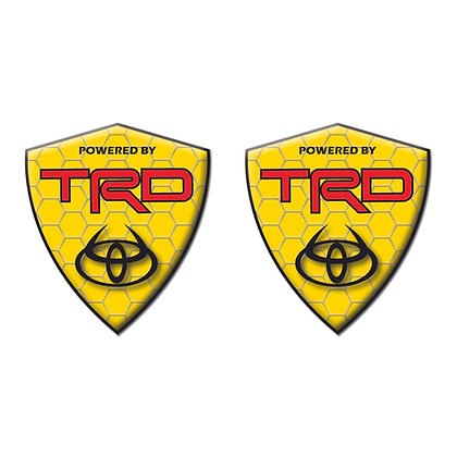 Toyota TRD Yellow Diamond x2pcs s.n:T7052