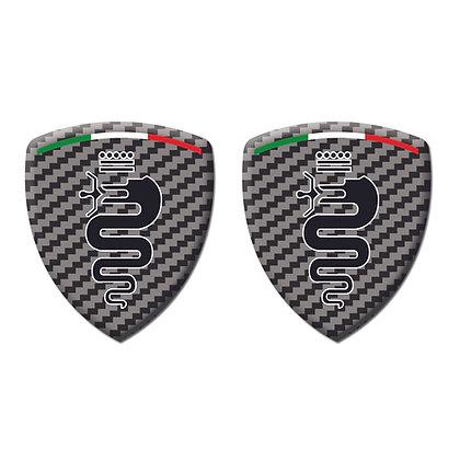 Alfa Romeo Black Shield x2pcs s.n: A0301