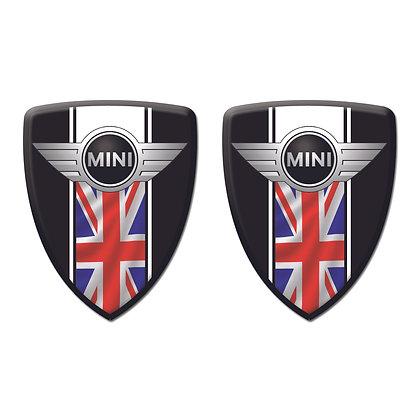 Mini Cooper Black Shield x2pcs s.n: M1521