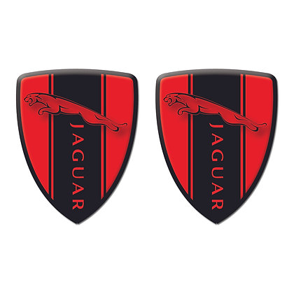Jaguar Red Shield x2pcs s.n: J0095
