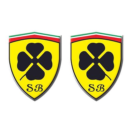 Alfa Romeo SCUDERIA BISCIONE x2pcs s.n: A0012