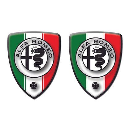 Alfa Romeo Italy Flag x2pcs s.n: A0009