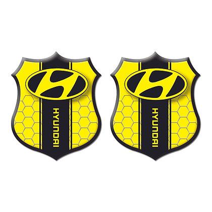 Hyundai Yellow Shield x2pcs s.n:H0091
