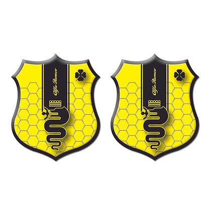 Alfa Romeo Yellow Shield x2pcs s.n: A0341