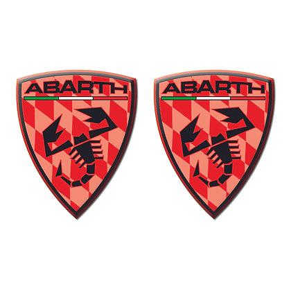 Abarth Red Shield x2pcs s.n: 0156