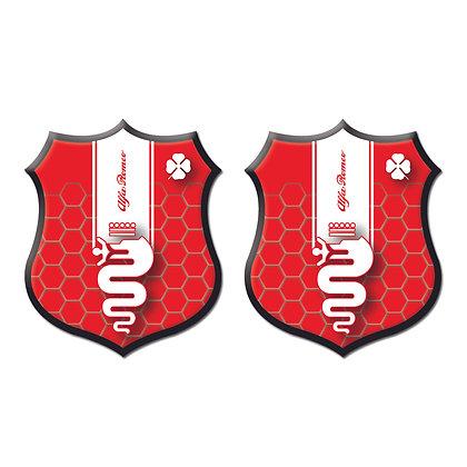 Alfa Romeo Red Shield x2pcs s.n: A0355