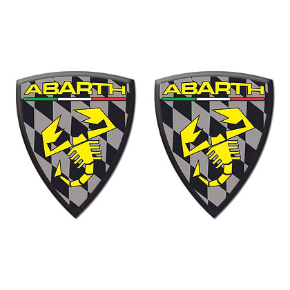 Abarth Black Shield x2pcs s.n: 0154