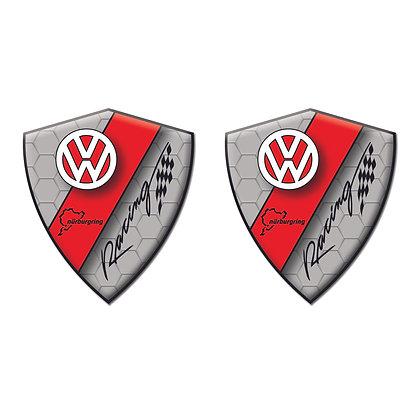 Volkswagen Gray Diamond x2pcs s.n:W0732