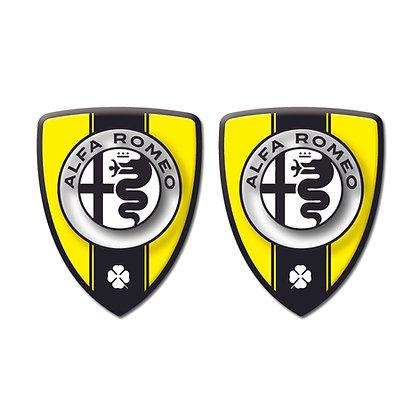Alfa Romeo Yellow Shield x2pcs s.n: A9019