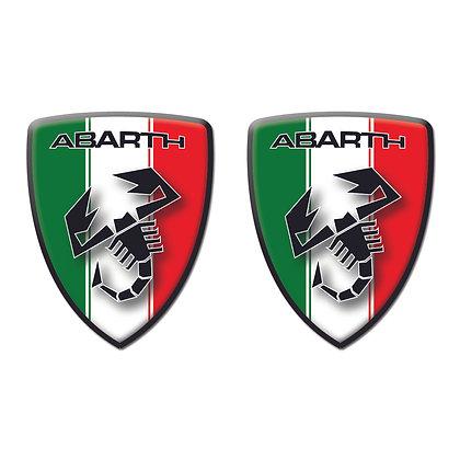 Abarth Italy Flag Shield x2pcs s.n: 00123