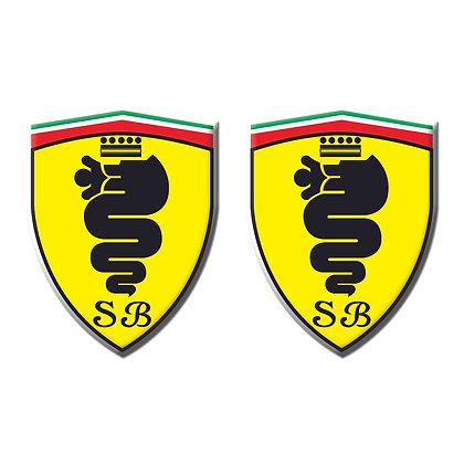 Alfa Romeo SCUDERIA BISCIONE x2pcs s.n: A0002