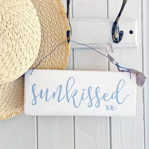 Sunkissed sign - coastal home decor