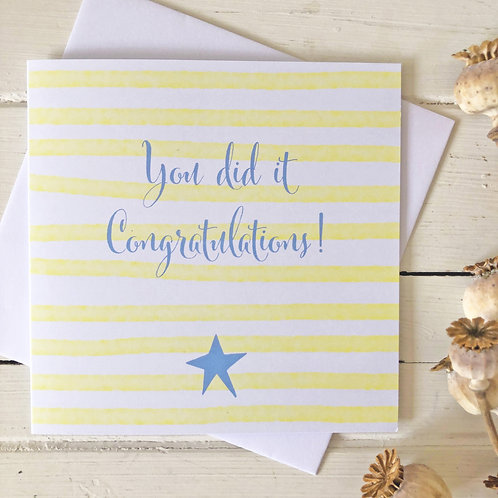 Well done card - You did it. Congratulations
