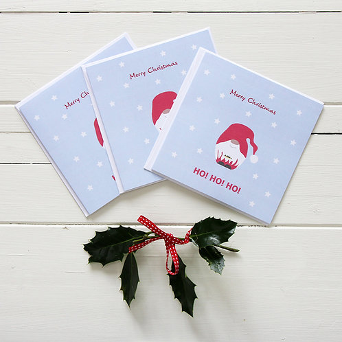 Santa gnome Christmas cards (Set of 6)