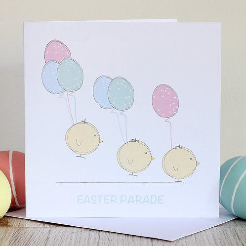 Easter card - Easter parade