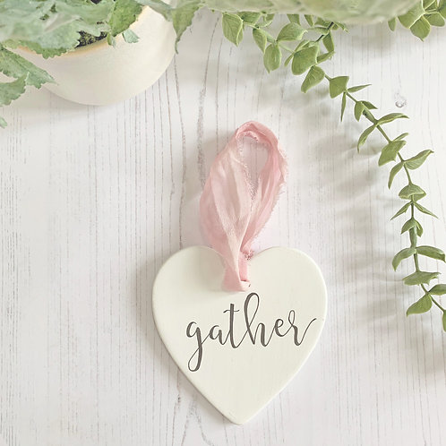 Home accessory - hand painted ceramic heart | Gather