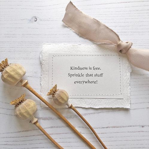 Friendship | Kindness quote | Gift | Keepsake