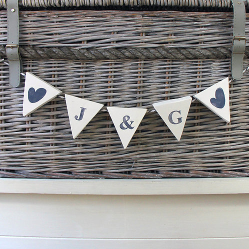 Personalised wood bunting (kid's bedroom, weddings, nursery & home gifts)