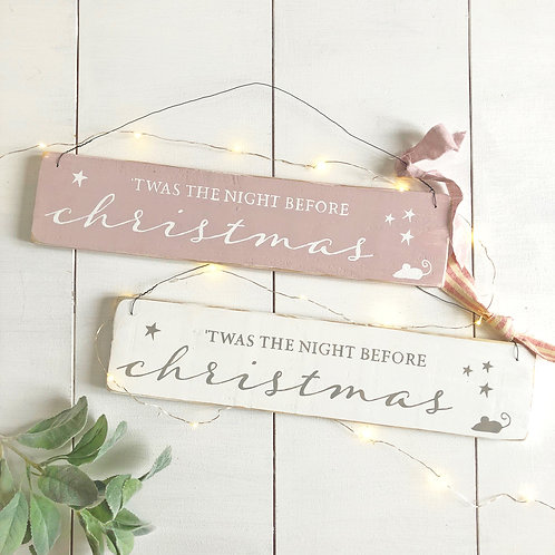 Twas the night before Christmas - hanging sign | Christmas decorations