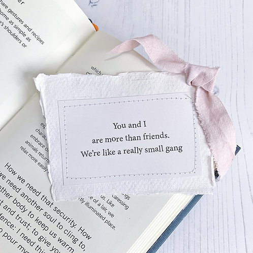 You and I are more than friends - keepsake gift