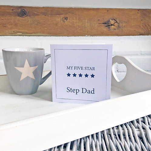 Five Star Step Dad - Father's Day card