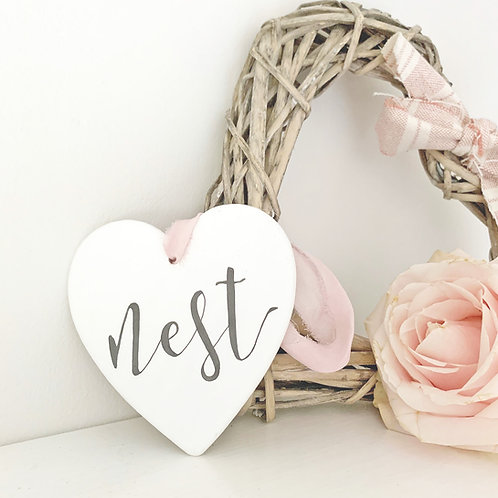 Home accessory - hand painted ceramic heart | Nest