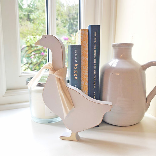 Wood Goose ornament - Hand painted