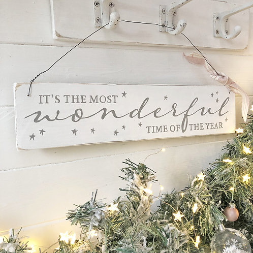 Christmas sign - It's the most wonderful time of the year