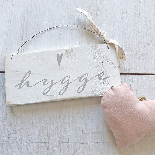 Hygge sign. Hand painted. Reclaimed wood.