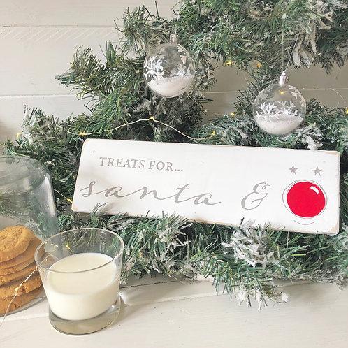 Christmas Eve sign - treat for Santa & Rudolph