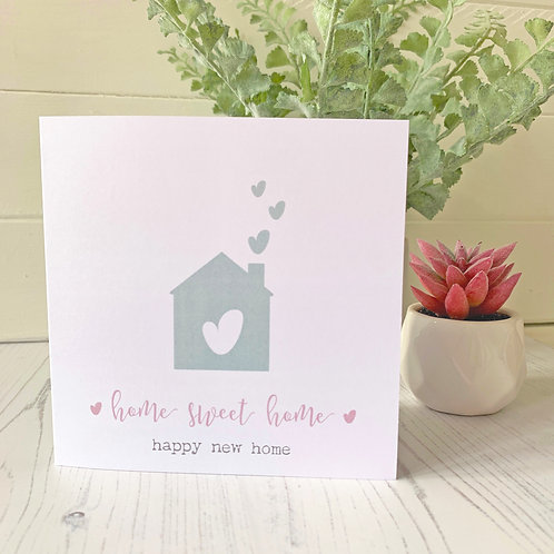 Happy new home card - home sweet home