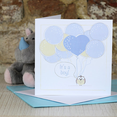 New baby boy and New baby girl greetings cards